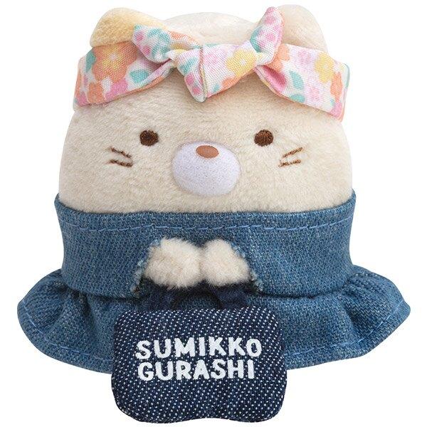 【角落生物 丹寧限定 迷你娃娃】角落生物 丹寧 迷你 手掌娃娃 絨毛玩偶 貓咪 日本正版 該該貝比日本精品