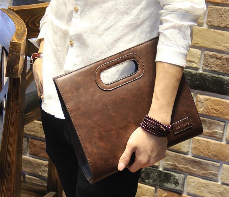 <br/><br/>  FINDSENSE Z1 韓國 時尚 潮 男 皮質 商務 手提 手拿包 皮夾包 公事包 二色<br/><br/>