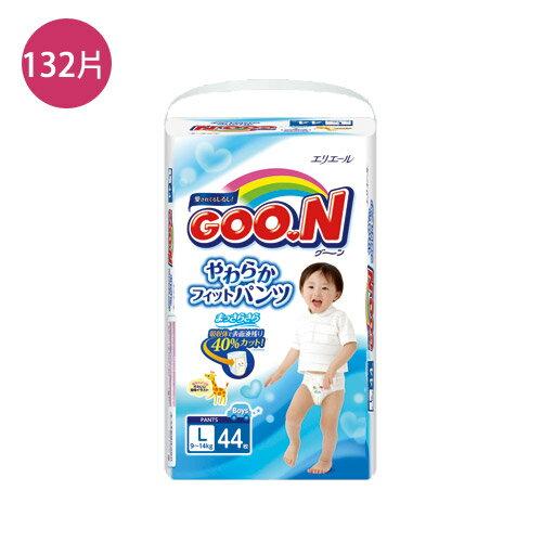 日本大王境內版紙尿褲 L*132片(箱)(男生)【愛買】