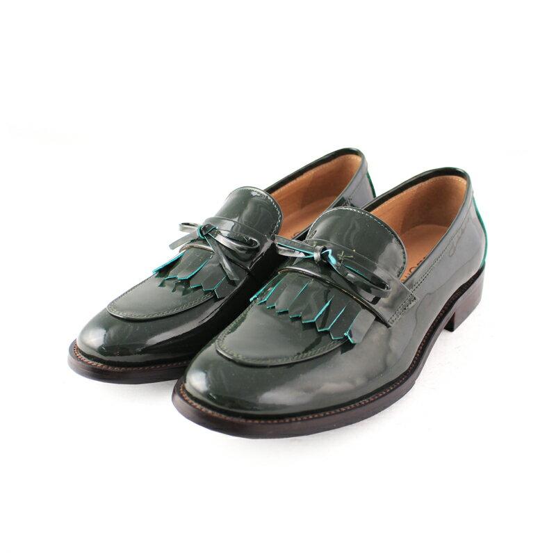 馬上出貨【F2-17912L】真皮鏡面流蘇樂福鞋_Shoes Party 3