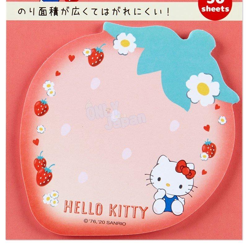 凱蒂貓kitty 備忘錄 記事 便利貼 便條紙 自黏便籤 日本製 文具 4550337373873 日本製造型自黏便籤-KT草莓FD33 真愛日本