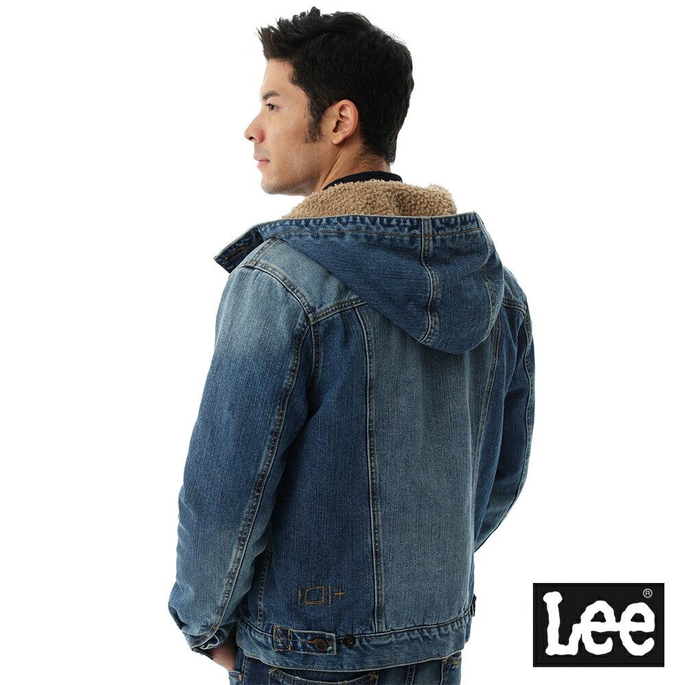 Lee 連帽牛仔外套 / 101+-男款-藍色 1