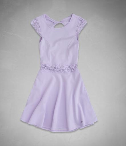 【LA STORES】 a&f(童) 蕾絲貼身洋裝 女童XL號