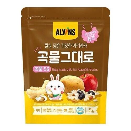ALVINS愛彬思糙米寶寶餅乾30g-綜合穀物【六甲媽咪】