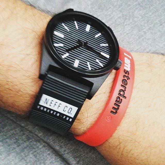BEETLE NEFF DAILY WILD WATCH 基本款 線條 條紋 黑灰 黑白 指針錶 手錶 圓錶 防潑水 NF-155 - 限時優惠好康折扣