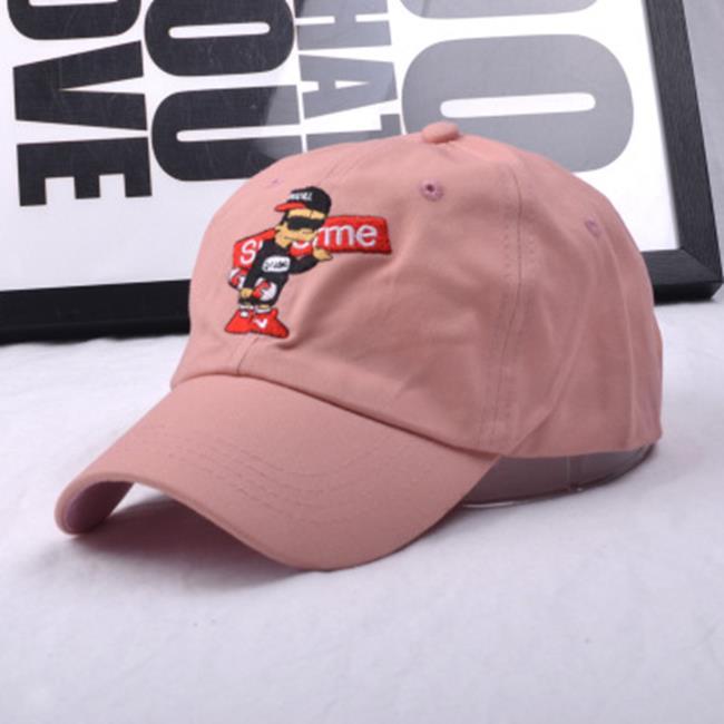 50%OFF SHOP~E021683H~韓國 鴨舌帽子辛普森卡通人物刺繡彎簷帽 純色情侶