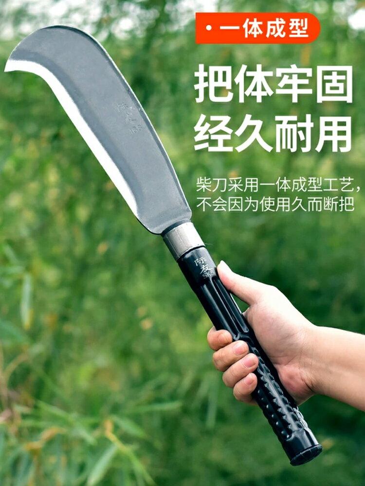 日本手工鍛打進口錳鋼坎劈柴刀家用砍樹砍破竹刀上山開路戶外長柄
