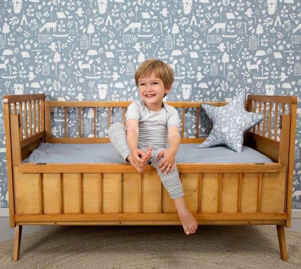 「庫存有現價格」兒童房籃色動物纹壁紙荷蘭LittleDutchAdventureblue8678