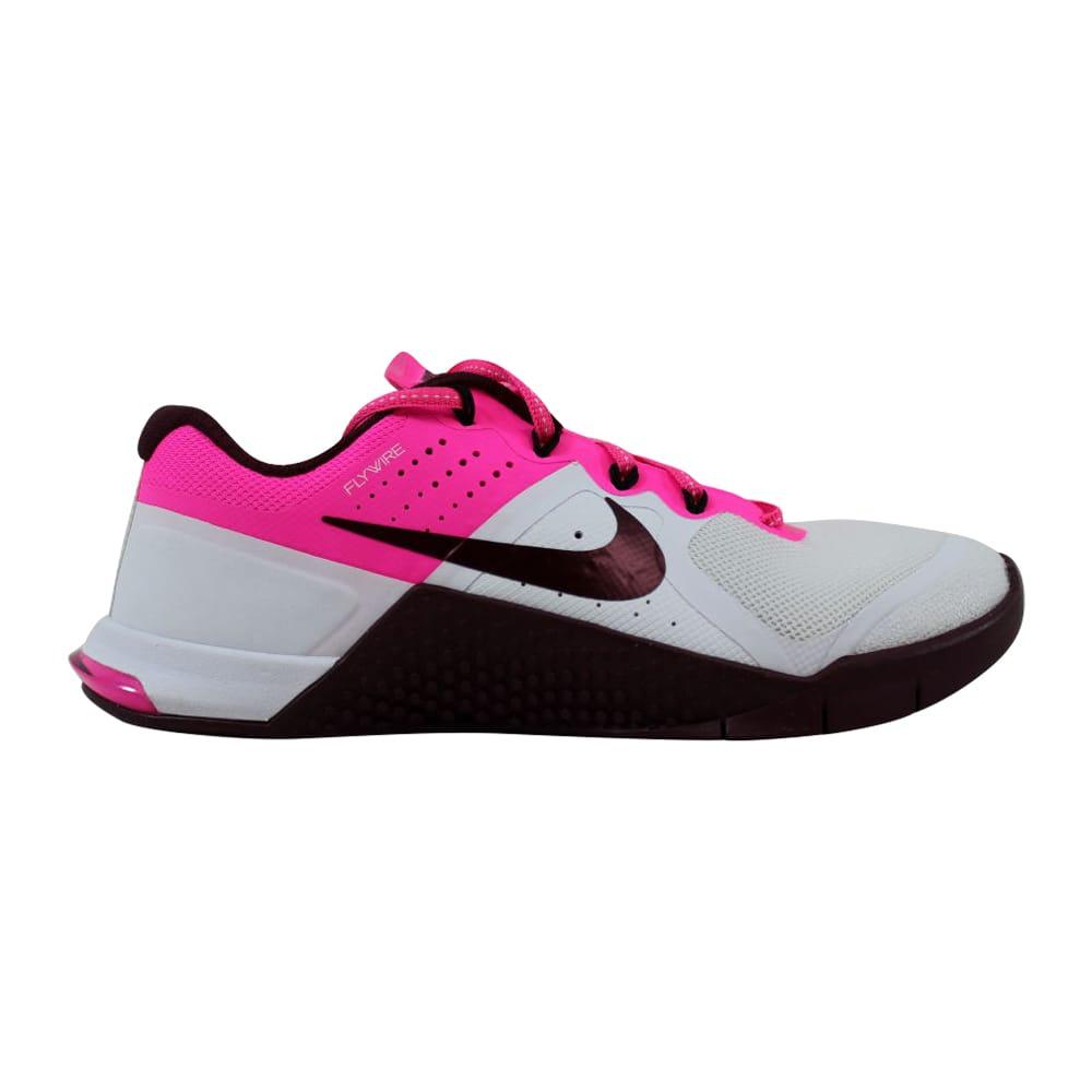 sports shoes 54829 3f9b9 Nike Metcon 2 White Night Maroon-Pink Blast-Black 821913-106 Women s