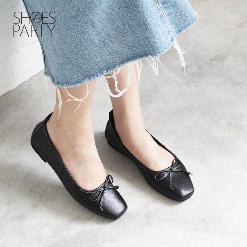 【F2-18910L】氣質小方頭芭蕾舞鞋_Shoes Party 5