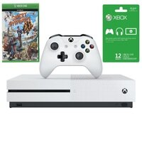 Deals on Microsoft Xbox One S 1TB Console, Sunset Overdrive & 12 Month Card