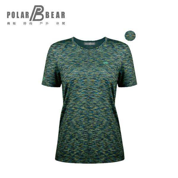 【POLARBEAR】女吸濕排汗快乾彈性雲彩圓領T恤
