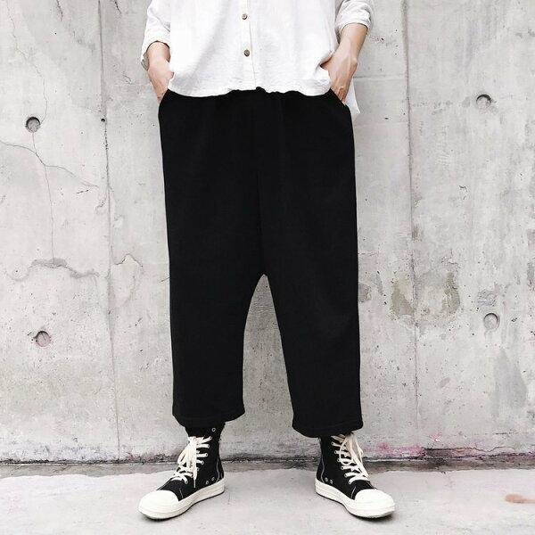 FINDSENSEG6韓國時尚男士哈倫褲秋季大檔垮褲長褲休閒九分褲男褲