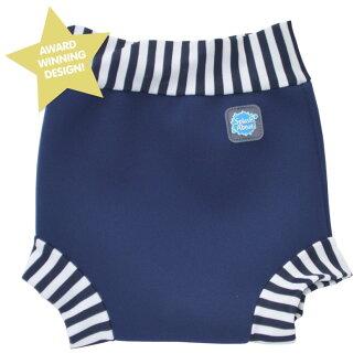 《Splash About 潑寶》Happy Nappy 游泳尿布褲 - 海軍藍 / 藍白條紋