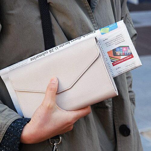 ☆BOBI☆02/25純色多功能皮面多分層長夾 拉鍊皮夾錢包卡包【PS011】 - 限時優惠好康折扣