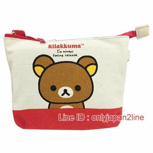 【真愛日本】16120800018多功能數位觸控包-大頭紅   SAN-X 懶熊  奶熊 拉拉熊  數位包  收納袋