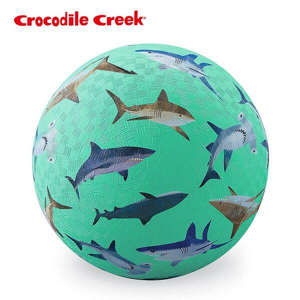 《美國CrocodileCreek》7吋兒童運動遊戲球-鯊魚世界