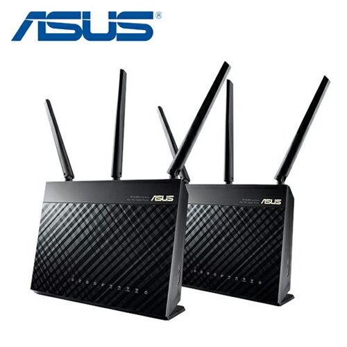 【ASUS 華碩】AiMesh AC1900 RT-AC68U 雙頻分享器 2入【三井3C】