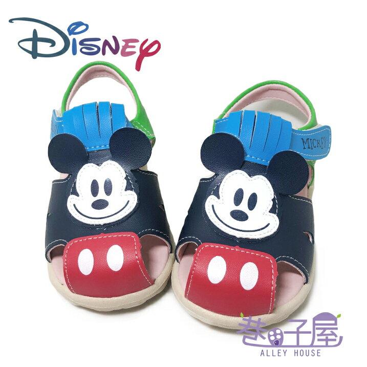 迪士尼DISNEY 童款米奇輕量包趾涼鞋 [118117] 藍 MIT台灣製造【巷子屋】