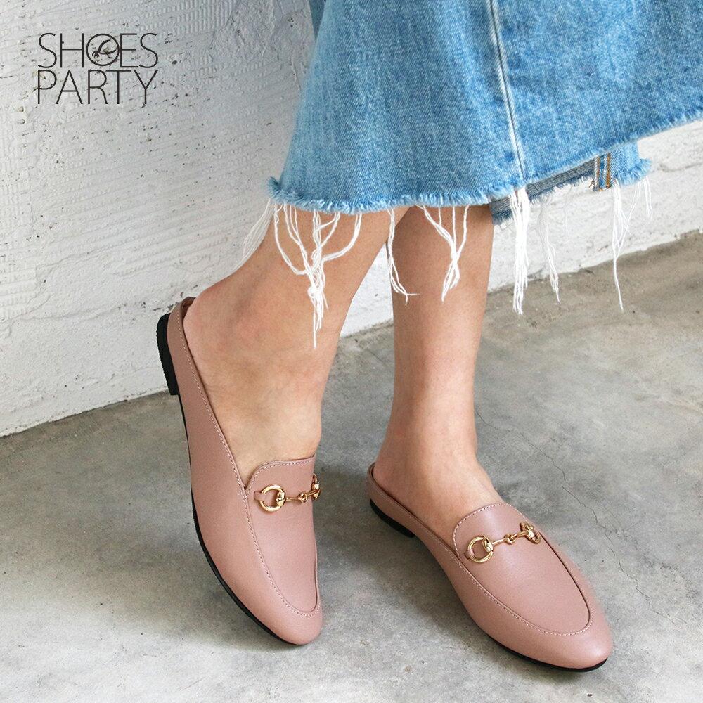 【S2-19519L】一套就走,真皮鍊條穆勒鞋_Shoes Party 2