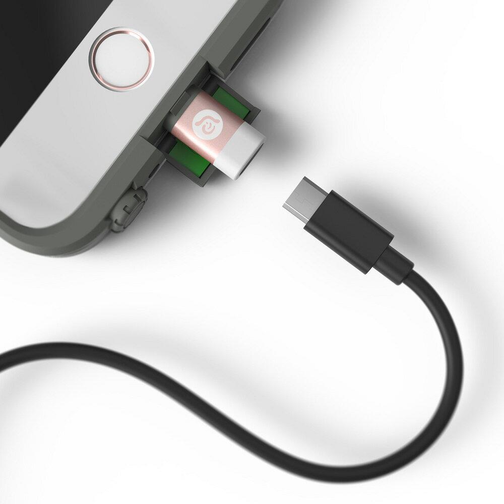 PeAk A1 Lightning 對 Micro USB 轉接器(紅色 8折價) 2