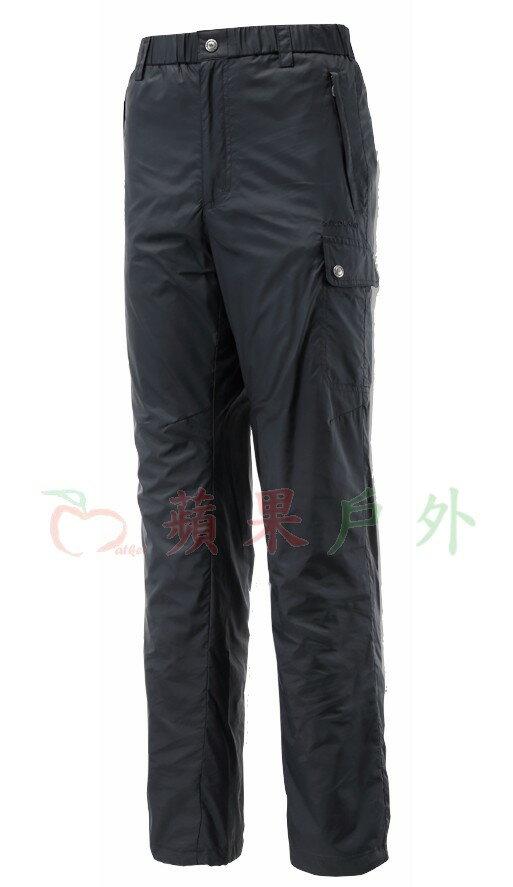 【【蘋果戶外】】荒野 0A12336-54 『零碼出清』WildLand 男 鬆緊帶輕量保暖長褲 黑 內層保暖/彈性纖維/抗靜電/鬆緊帶休閒褲