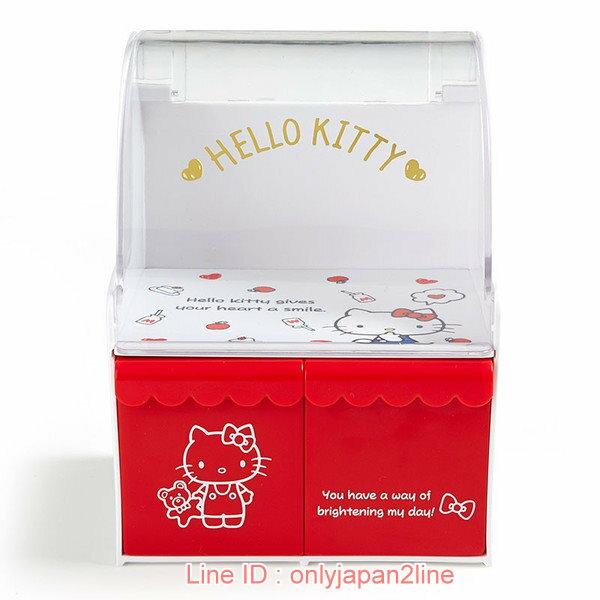 【真愛日本】17021000058 迷你收納櫃-KT商店紅AAA  三麗鷗 Hello Kitty 凱蒂貓 收納盒 文具盒