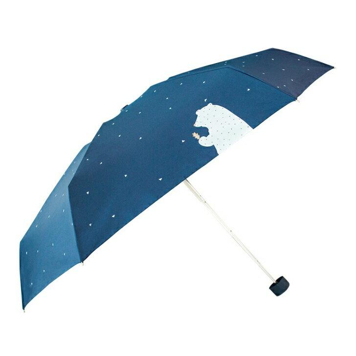 【現貨免等】可愛小熊迷你五折雨傘 折疊傘 黑膠塗層 抗紫外線【UBAAST24】 0