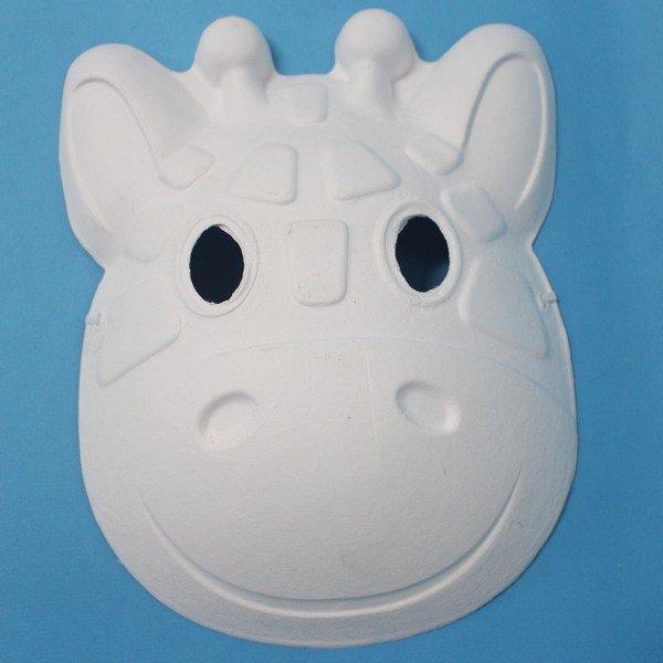 長頸鹿面具 空白動物面具 DIY面具 彩繪面具 空白面具 空白眼罩 紙面具 紙漿面具(附鬆緊帶)/一個入{定40}~725348