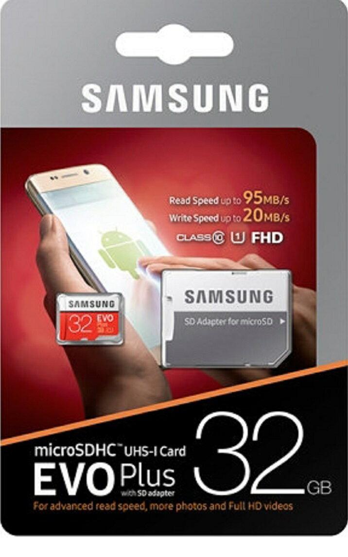 Samsung EVO+ 32GB microSDHC Class 10 32G EVO Plus microSD micro SD SDHC 95MB/s UHS-I U1 C10 MB-MC32GA with Original SD Adapter 1