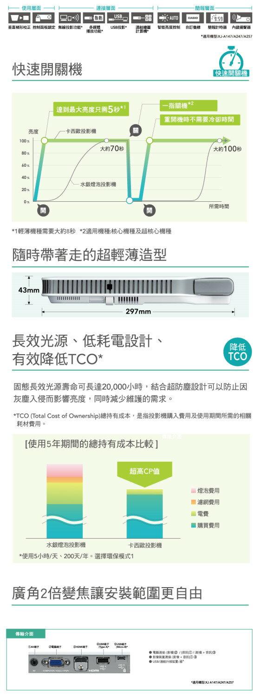 AviewS-CASIO XJ-A147投影機/2500流明/XGA/免換燈泡,日本製造 2