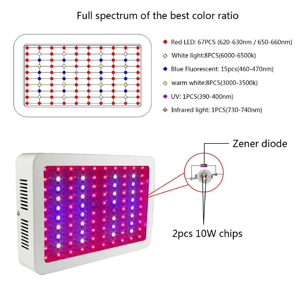 第四代LED植物生長燈 超強散熱全光譜大棚種植燈 花卉蔬菜led補光燈雙芯單芯 300w 600w 1500w