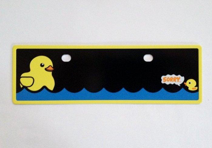 權世界@汽車用品 COTRAX 黃色小鴨 卡通造型可愛停車用電話留言板 CX-130116