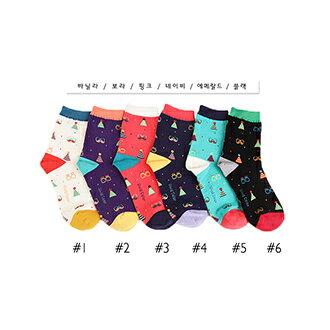 韓國派對造型短襪-多款任選 (SOCK-082-W)