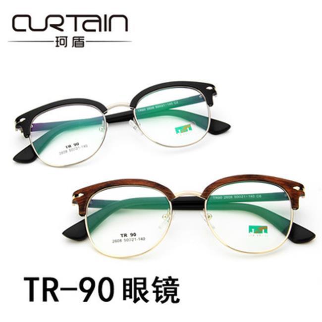 《全店399免運。滿688折88》50%OFF【J021157GLS】超輕復古TR90眼鏡框2608時尚框架鏡學生平光鏡眼鏡架眼鏡