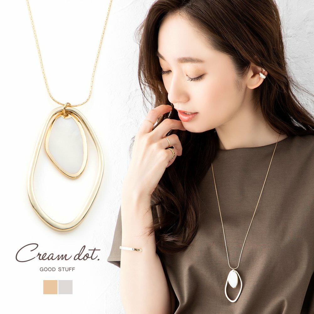 日本Cream Dot  /  個性不規則雙圈項鍊  /  a03928  /  日本必買 日本樂天代購  /  件件含運 0