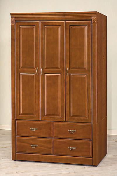 【石川家居】EF-121-4 賽德克4*7尺樟木色衣櫥 (不含其他商品) 大需搭配車趟