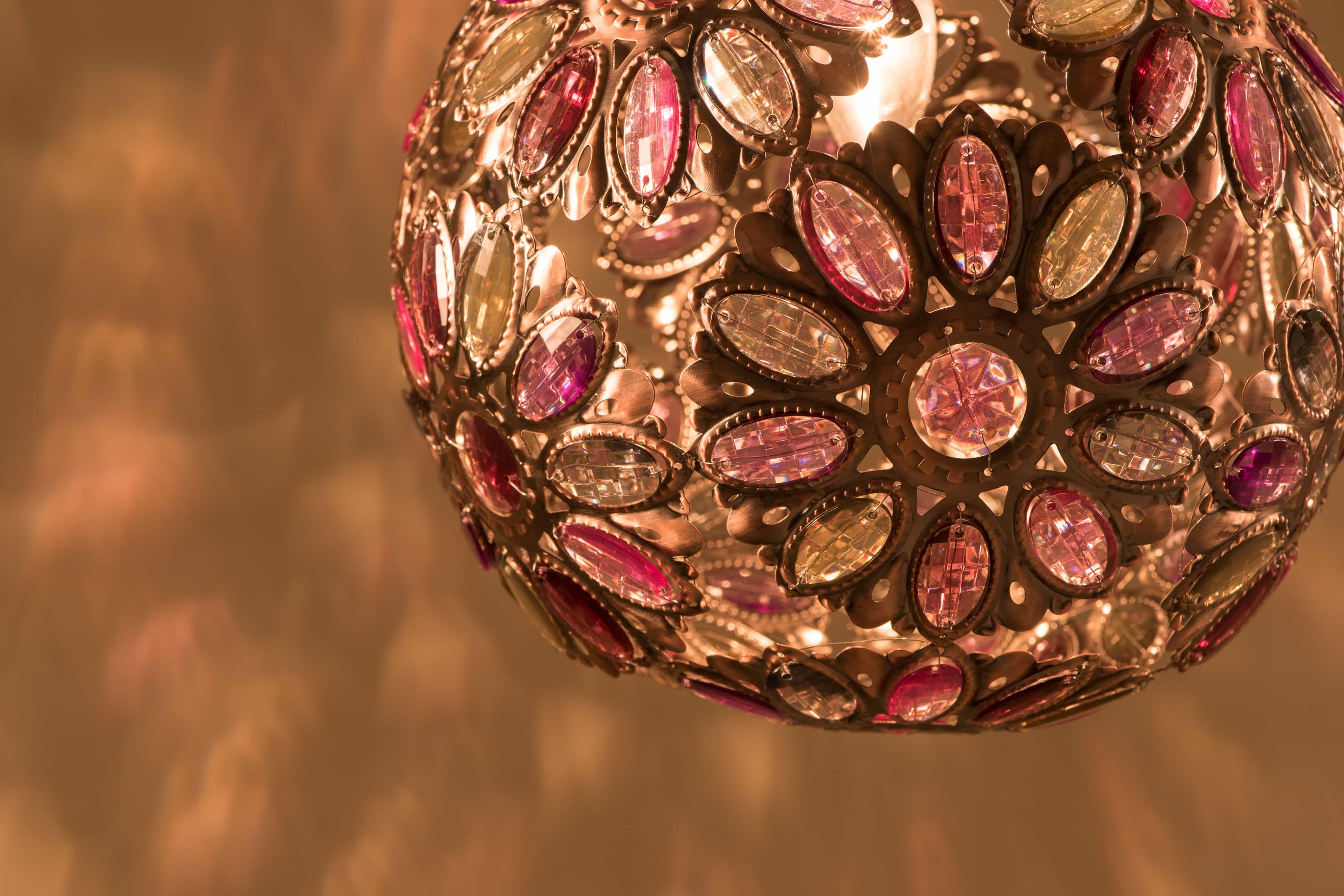 紅銅波斯蘭菊吊燈-BNL00087 4