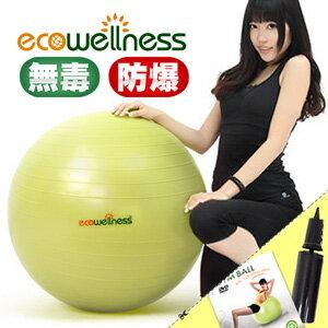 【ecowellness】加厚防爆26吋韻律球(贈送打氣筒)65cm瑜珈球抗力球彈力球.健身球彼拉提斯球復健球體操球大球操.推薦哪裡買C016-001T-26
