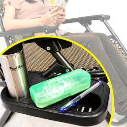 雙槽置物杯架(適用無段式躺椅涼椅)飲料杯盤杯墊.水杯架飲料架拖盤.置物架置物盤.餐架餐盤.推薦.哪裡買C022-003