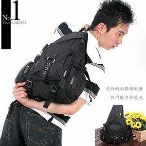 多口袋三角後背包(運動背包.運動包.側背包.書包.休閒包.電腦包.潮包.推薦.哪裡買)C145-29