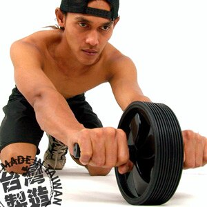 Wheel雙輪健美輪^(健腹輪緊腹輪.健腹機健腹器. 健身器材. 哪裡買 ^) ~  好康