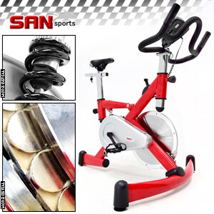 【SAN SPORTS 山司伯特】极速F1磁控飞轮健身车(4倍强度.15公斤飞轮车.室内脚踏车美腿机.推荐哪里买)C121-92HA