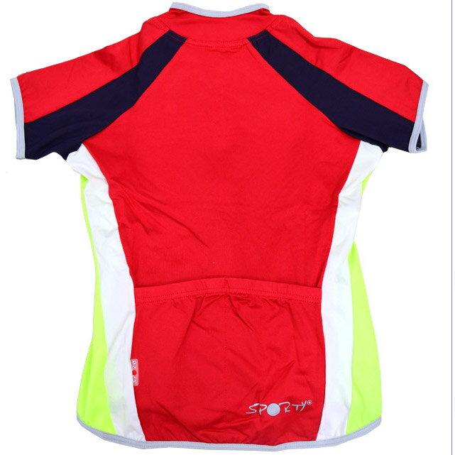 【sporty】女用全開式短袖緊身自行車衣S號(騎行服S腳踏車.卡打車.單車.小折)P082-C0118 1