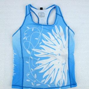 【sporty】藍色女性無袖緊身上衣.自行車.腳踏車.卡打車.單車.小折.車衣.騎行服P082-C0178
