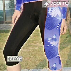 【sporty】紫色女性四針六分車褲.自行車.腳踏車.卡打車.單車.小折.騎行服P082-C0199 0