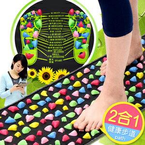 居家仿鵝卵石路健康步道(腳底按摩墊按摩步道.腳踏墊足底足部按摩腳墊.踩踏運動健康之路推薦哪裡買)C174-002
