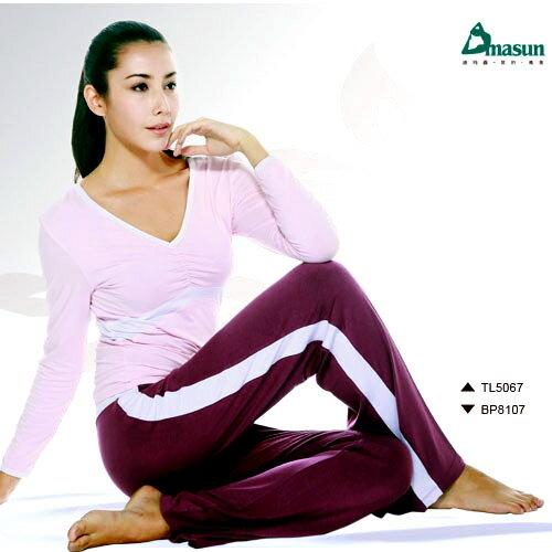 【Dmasun】蝴蝶翩翩瑜珈韻律運動套裝(長袖+長褲).有氧