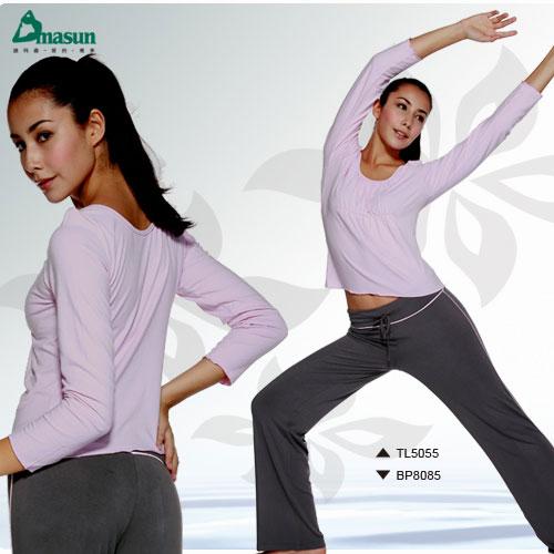 【Dmasun】  動感休閒瑜珈韻律運動套裝(長袖+長褲).有氧 - 限時優惠好康折扣