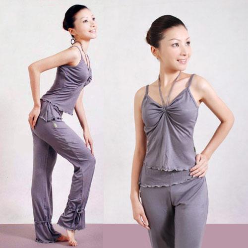 高雅舒適瑜珈韻律運動套裝(背心+長褲).有氧 - 限時優惠好康折扣
